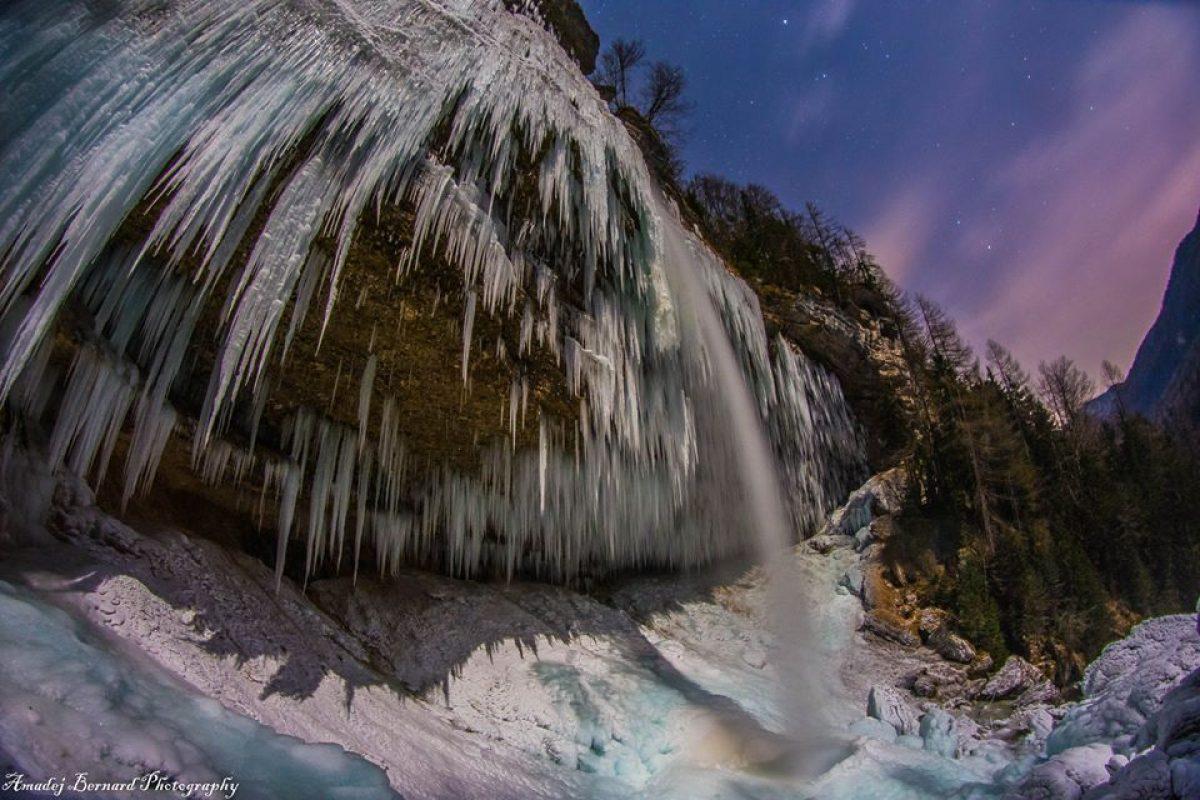 FOTO: Slap Peričnik in ledena umetnost narave!