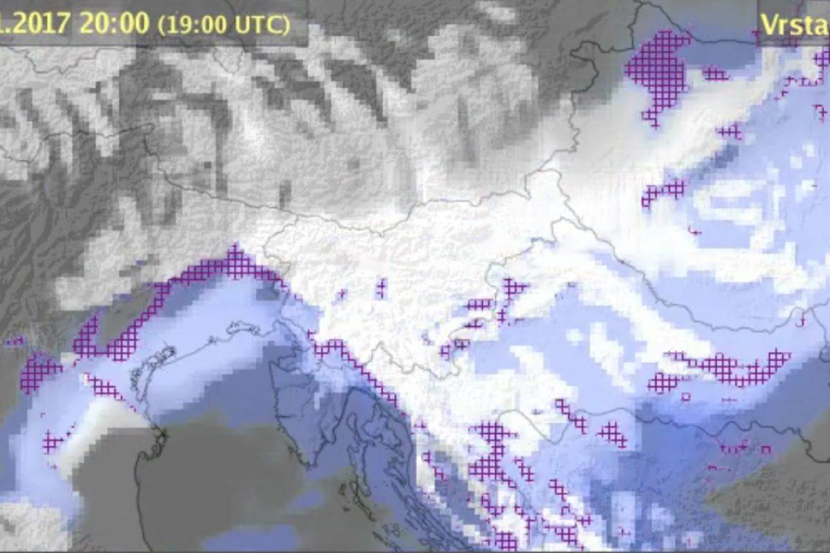 ARSO: Podrobnejša razlaga prihajajočega poslabšanja z dežjem in snegom
