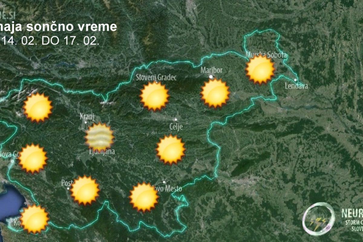 Končno prihaja sončno in toplejše vreme, mrzla bodo samo jutra