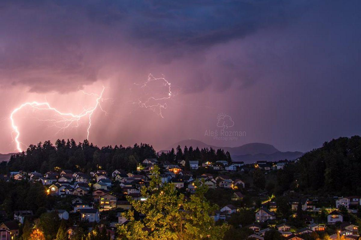 NATANČNA NAPOVED: Koroško, Štajersko in Prekmurje so zvečer obiskale krajevne nevihte, ki pa večjih težav niso povzročile