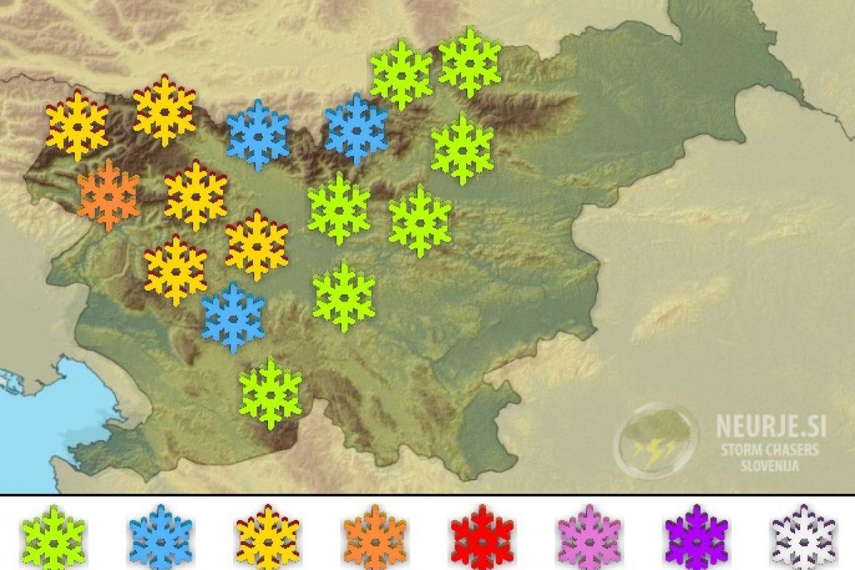 Pred odjugo bo ponekod še snežilo, najbolj na Gorenjskem in Notranjskem