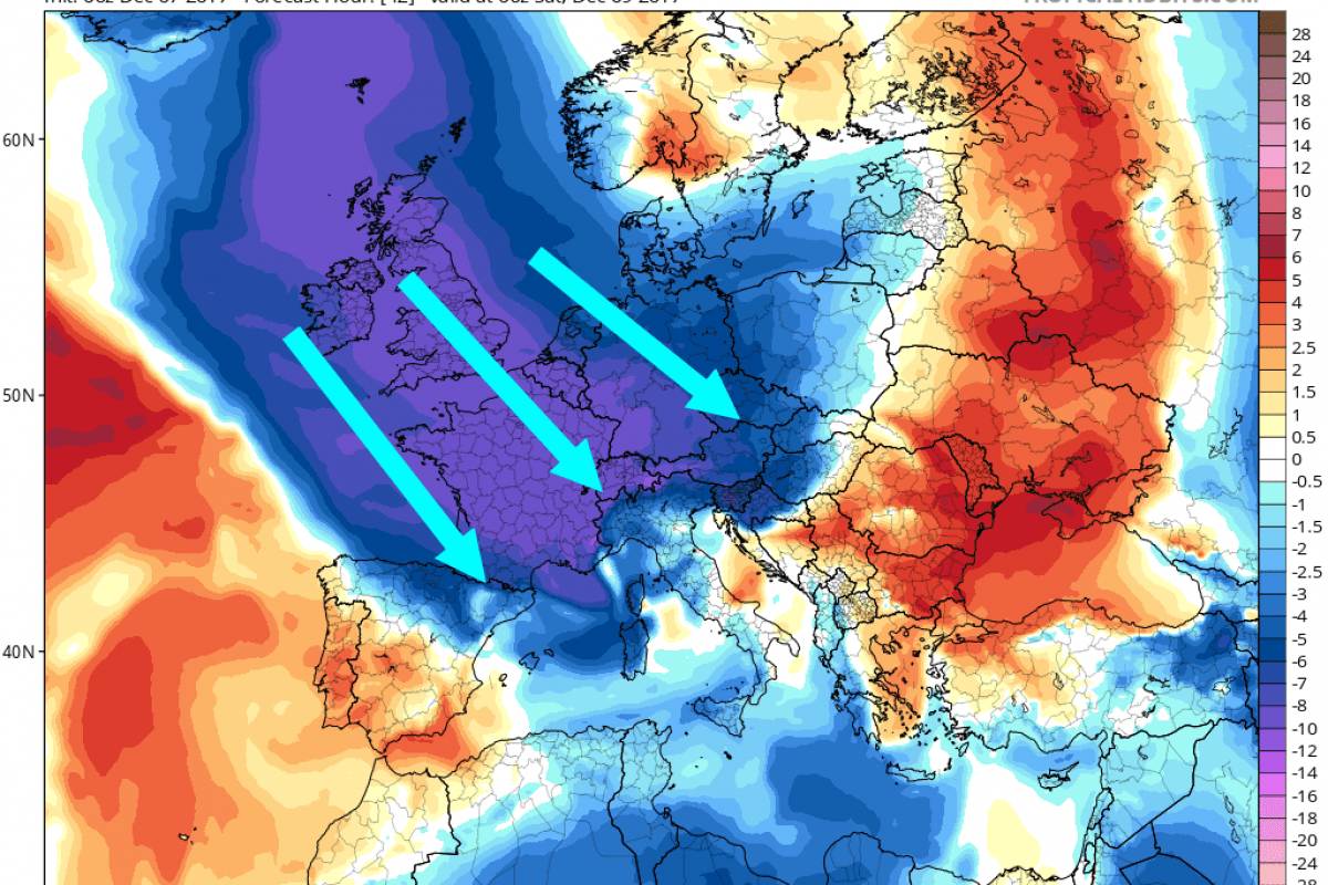 V noči na soboto bo povsod zapadlo nekaj snega, v nedeljo zjutraj pa bo živo srebro padlo pod -10 °C
