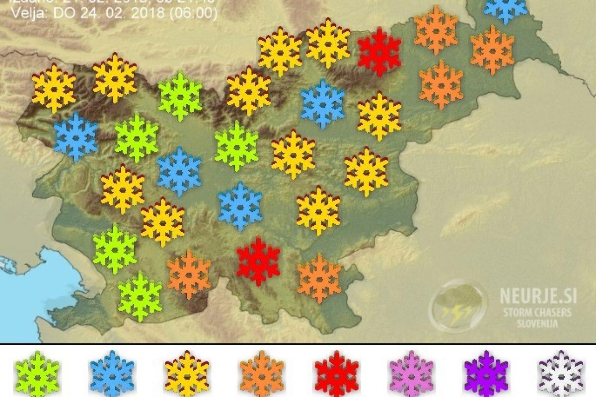 Sneženje se bo okrepilo in razširilo nad večji del Slovenije